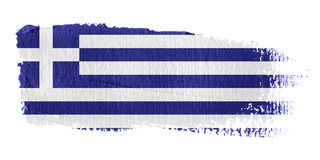 Brushstroke Flag Greece. Brushstroke-flag made to the computer Royalty Free Stock Images