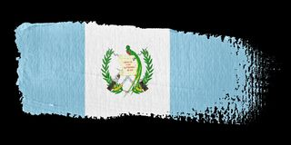 Brushstroke Flag Guatemala Royalty Free Stock Images