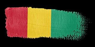 Brushstroke Flag Guinea Stock Photography
