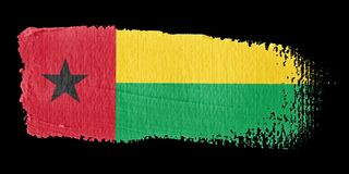 Brushstroke Flag Guinea-Bissau Stock Photography