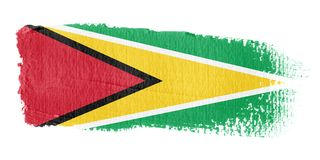 Brushstroke Flag Guyana Royalty Free Stock Photography
