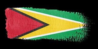 Brushstroke Flag Guyana Royalty Free Stock Images