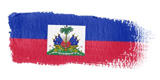 Brushstroke Flag Haiti. Brushstroke-flag made to the computer Stock Image