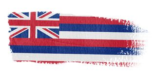 Brushstroke Flag Hawaii. Brushstroke-flag made to the computer Royalty Free Stock Photography