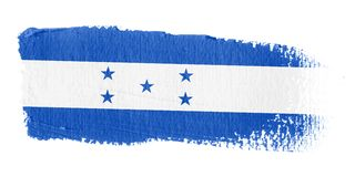 Brushstroke Flag Honduras. Brushstroke-flag made to the computer Royalty Free Stock Images