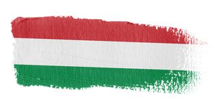 Brushstroke Flag Hungary. Brushstroke-flag made to the computer Royalty Free Stock Photos