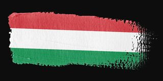 Brushstroke Flag Hungary Stock Photo