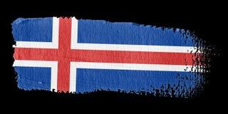 Brushstroke Flag Iceland Stock Photo