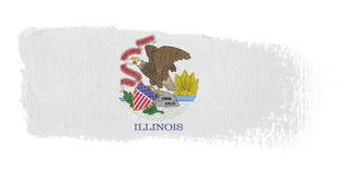 Brushstroke Flag Illinois Stock Images
