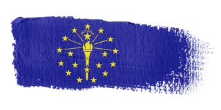 Brushstroke Flag Indiana Stock Images