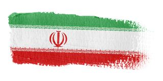 Brushstroke Flag Iran Stock Photo