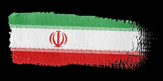 Brushstroke Flag Iran Royalty Free Stock Photography