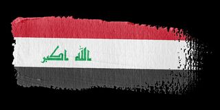 Brushstroke Flag Iraq Stock Images