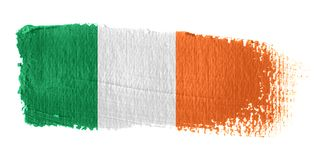 Brushstroke Flag Ireland. Brushstroke-flag made to the computer Stock Photo