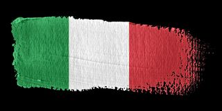 Brushstroke Flag Italy. Brushstroke-flag made to the computer Stock Images