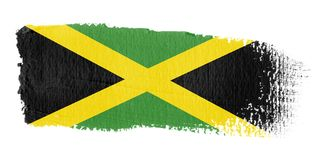 Brushstroke Flag Jamaica. Brushstroke-flag made to the computer Stock Images
