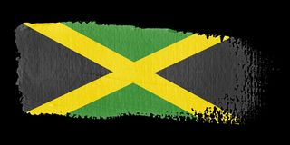 Brushstroke Flag Jamaica. Brushstroke-flag made to the computer Royalty Free Stock Photo