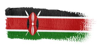 Brushstroke Flag Kenya Royalty Free Stock Photos