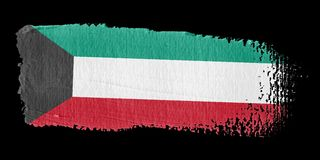 Brushstroke Flag Kuwait Royalty Free Stock Image