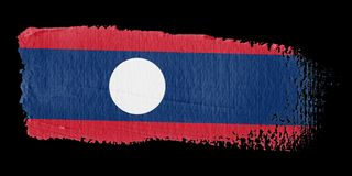 Brushstroke Flag Laos Stock Images