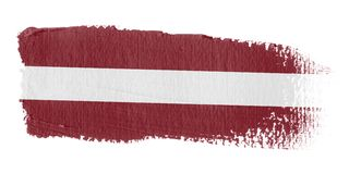 Brushstroke Flag Latvia Royalty Free Stock Photos