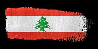 Brushstroke Flag Lebanon Stock Images