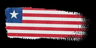 Brushstroke Flag Liberia Stock Photography