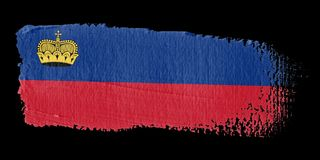 Brushstroke Flag Liechtenstein Royalty Free Stock Image