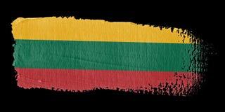 Brushstroke Flag Lithuania Stock Image