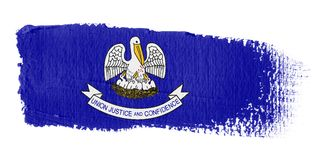 Brushstroke Flag Louisiana Stock Image