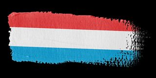 Brushstroke Flag Luxembourg Royalty Free Stock Images