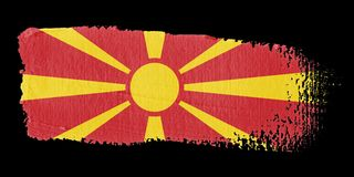 Brushstroke Flag Macedonia Stock Photos