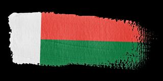 Brushstroke Flag Madagascar Royalty Free Stock Image