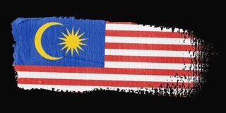Brushstroke Flag Malaysia Stock Photo