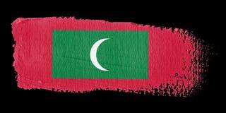 Brushstroke Flag Maldives Stock Photo