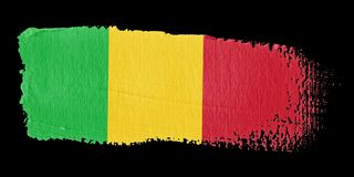 Brushstroke Flag Mali Royalty Free Stock Photo