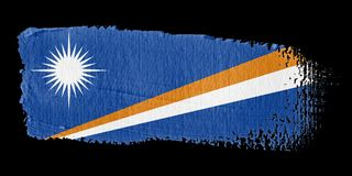 Brushstroke Flag Marshall Islands Royalty Free Stock Photo