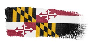 Brushstroke Flag Maryland Stock Image