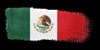 Brushstroke Flag Mexico. Brushstroke-flag made to the computer Stock Photos