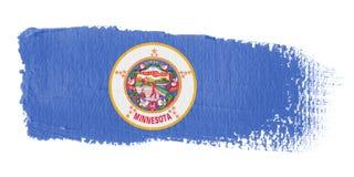 Brushstroke Flag Minnesota Stock Photo