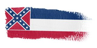 Brushstroke Flag Mississippi Royalty Free Stock Photography