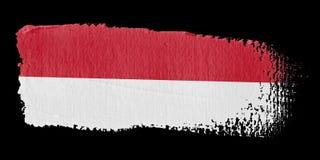 Brushstroke Flag Monaco Stock Images