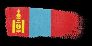 Brushstroke Flag Mongolia Royalty Free Stock Image