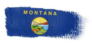 Brushstroke Flag Montana Stock Photo