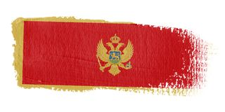 Brushstroke Flag Montenegro Royalty Free Stock Photography