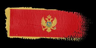 Brushstroke Flag Montenegro Stock Images