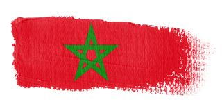 Brushstroke Flag Morocco Royalty Free Stock Photos