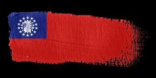 Brushstroke Flag Myanmar Royalty Free Stock Image
