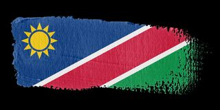 Brushstroke Flag Namibia Royalty Free Stock Photos