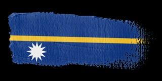 Brushstroke Flag Nauru Stock Photo